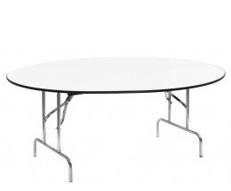 Mesa comedor plegable ovalada for Mesas redondas plegables para eventos