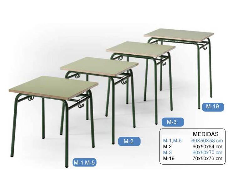 mesa del pupitre unipersonal